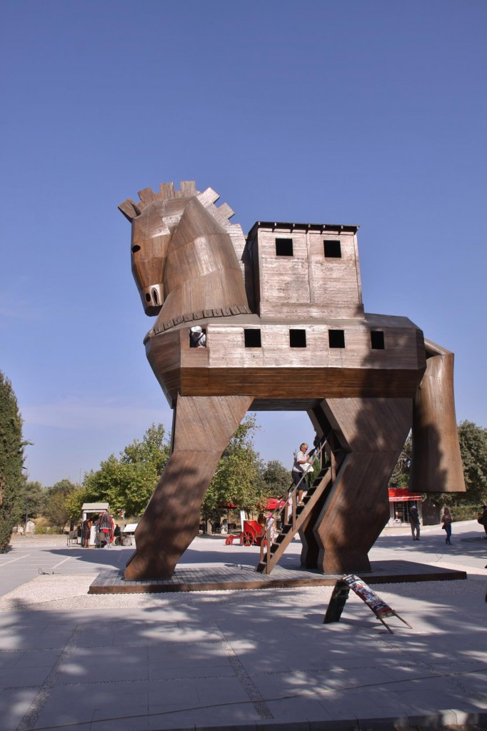 A Reconstructed Trojan Horse is the Centrepiece of the Entrance to the Ancient Site