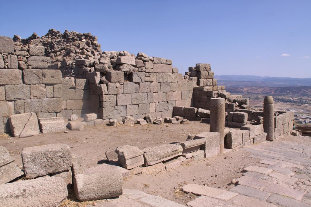 The Entrance to Pergamon with the Remains of One of the Palaces