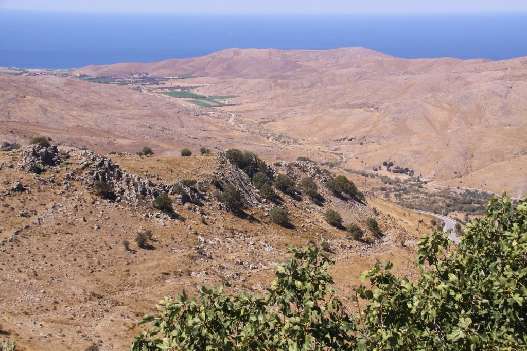 The Terrain in the Western Area of Lesvos is Much More Barren than  Other Parts of the Island