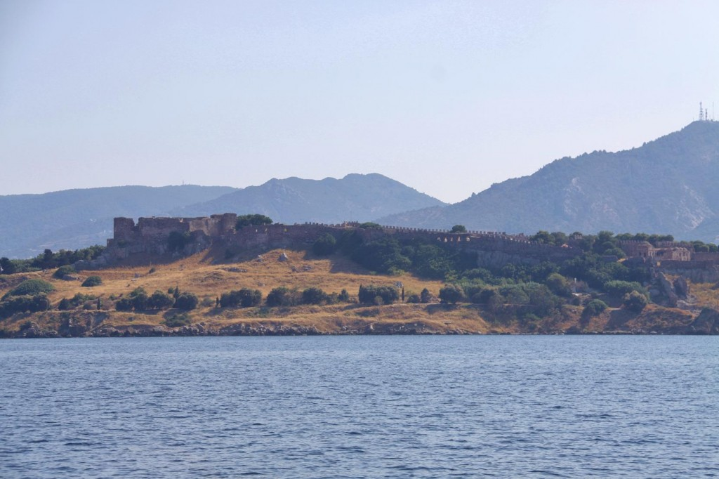 The Large Byzantine Fortress that Stands High Over the Capital City of Lesvos, Mitilini