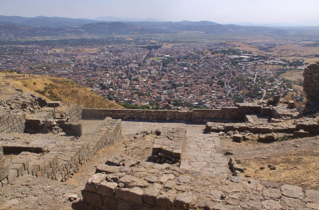 Overlooking the Town of Bergama from the Ancient Site