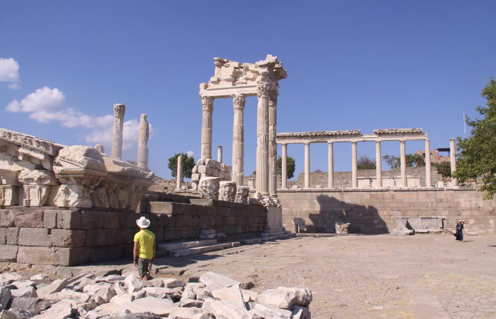 The Remains of the Temple is the Focal Point of the Pergamon Site