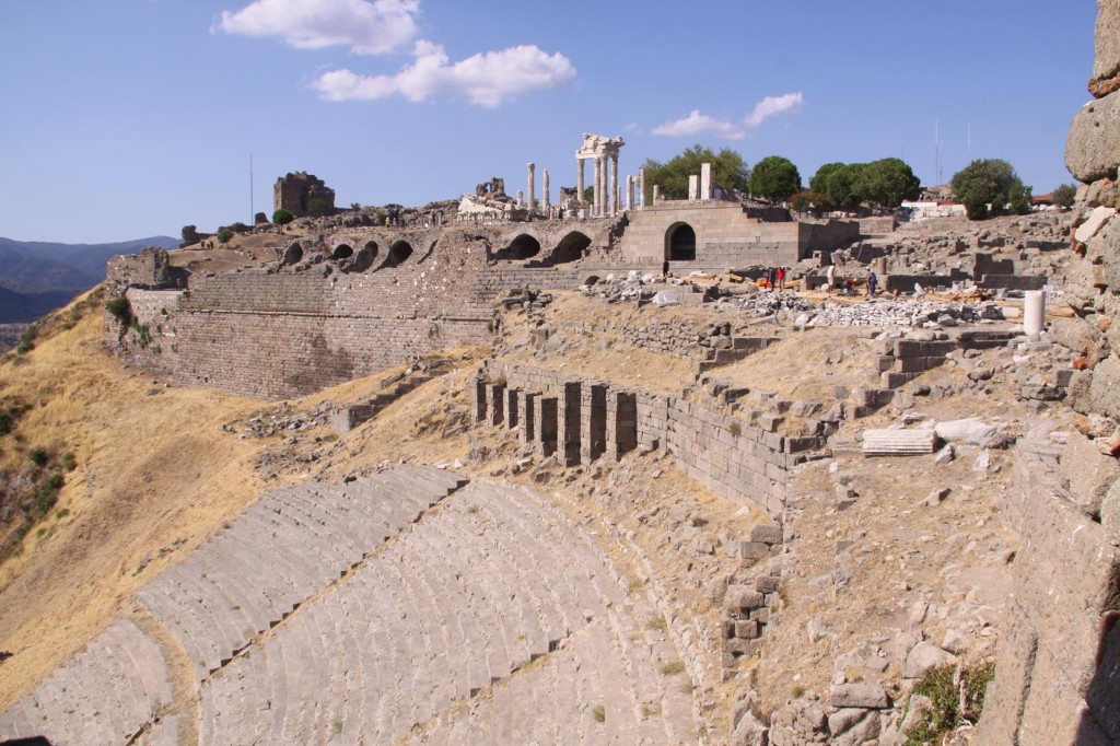 Extensive Restoration is Being Carried Out in Areas of the Ancient Pergamon Site