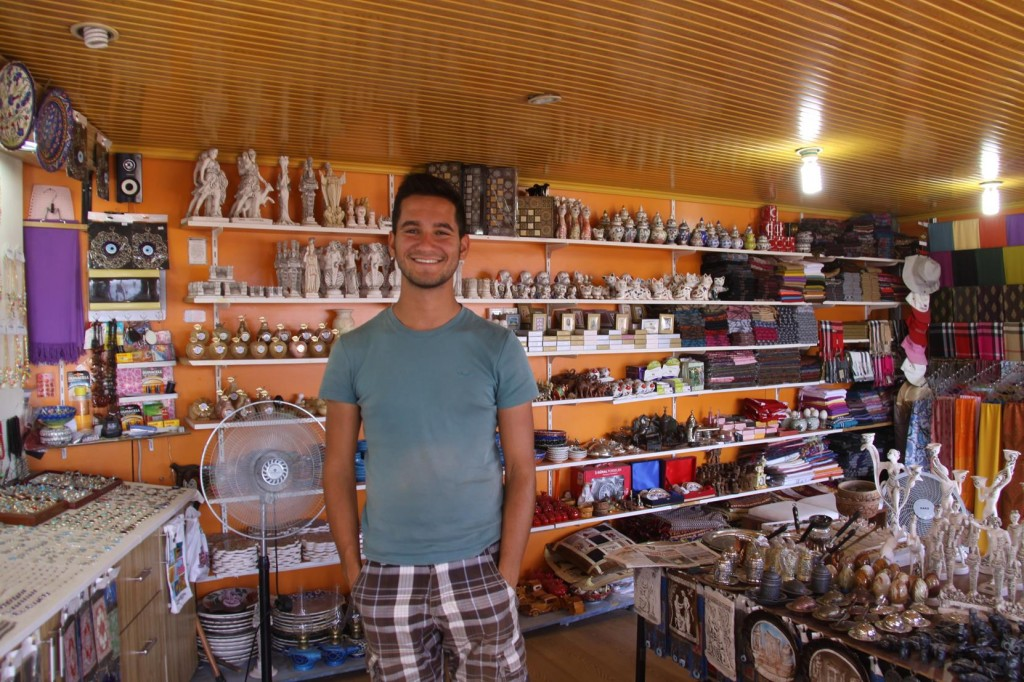 A Friendly Shop Assistant at one of the Souvenir Shops at the Upper Pergamon Site