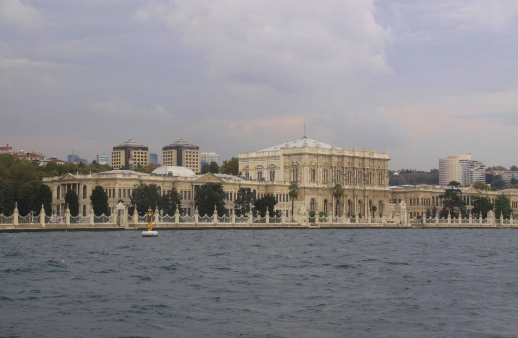 The Dolmabahce Palace on the Bosphorus
