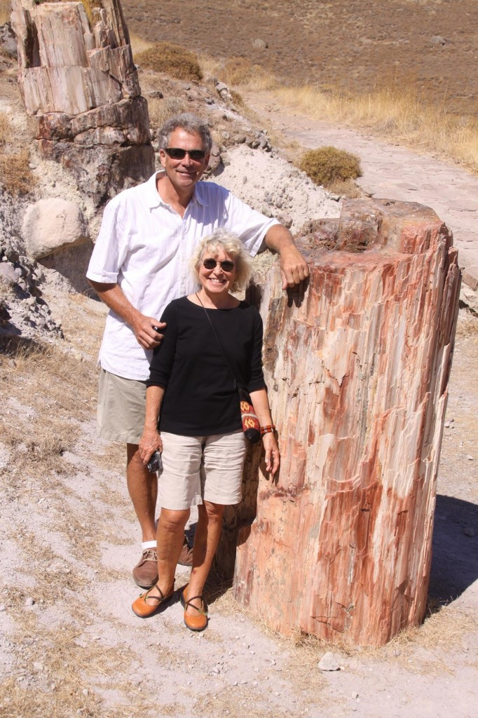 Steven and Pam Seem to have Enjoyed the Visit to the Petrified Forest