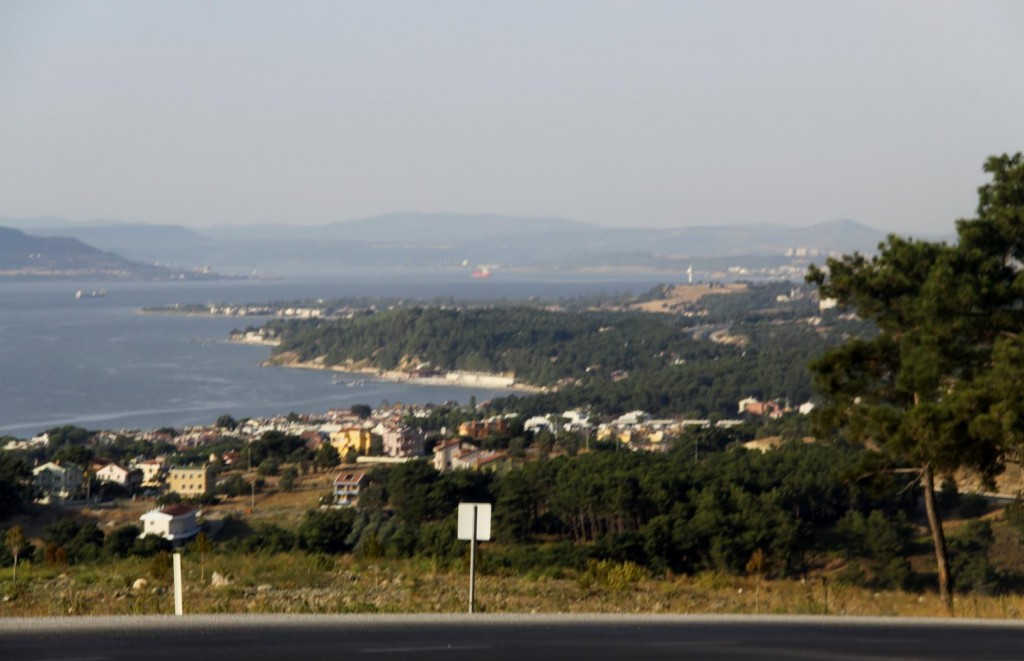 Overlooking the Dardanelles on Our Way Back to Canakkale