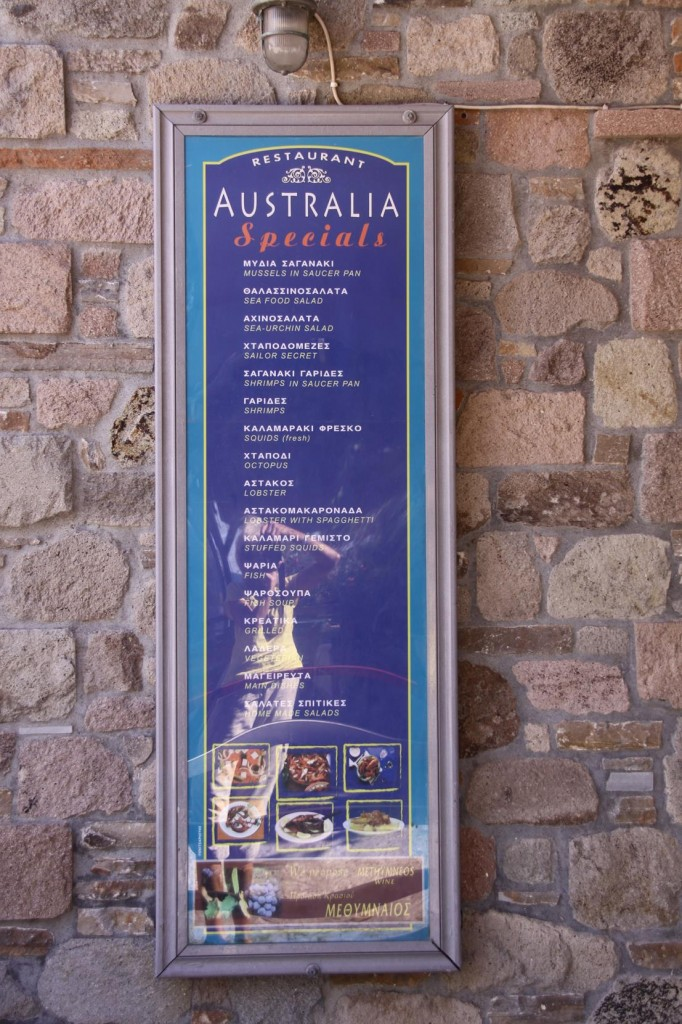 In the Tiny Town there was an Australia Restaurant, However we were Too Early for Dinner and Too Late for Lunch !!