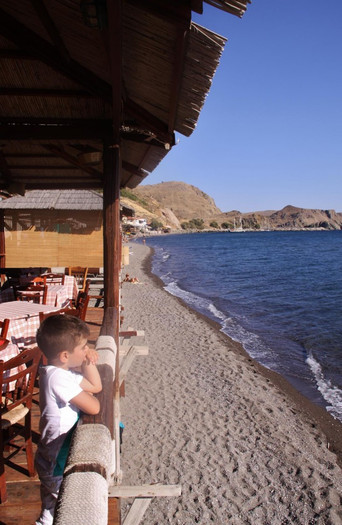 Many Tavernas are Conveniently Positioned  Looking Out Over the Sea Along the Beach