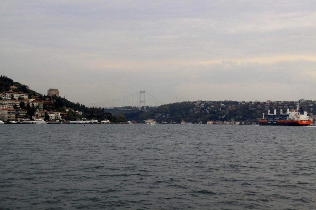 The Bosphorus is a Very Busy Waterway which Reaches the Black Sea in the North