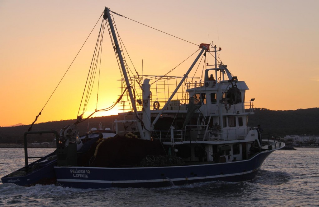 The Sun Sets Over One of the Local Fishing Boats