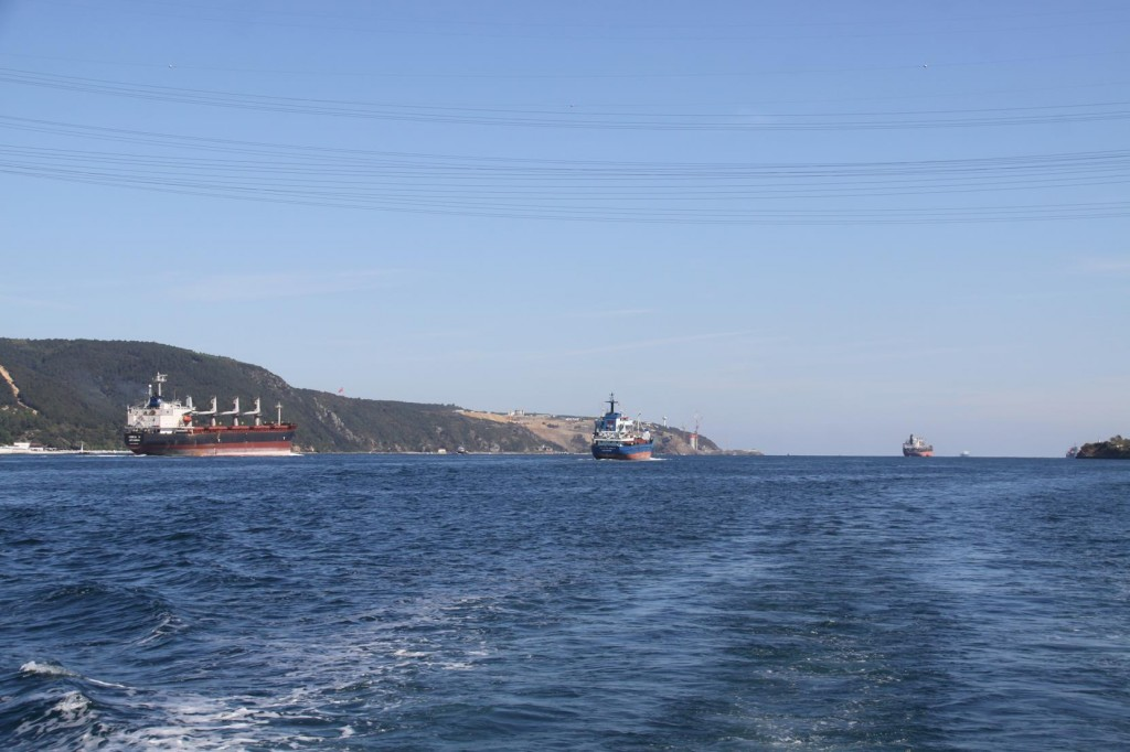 A Flotilla of Freighters Approach the Black Sea