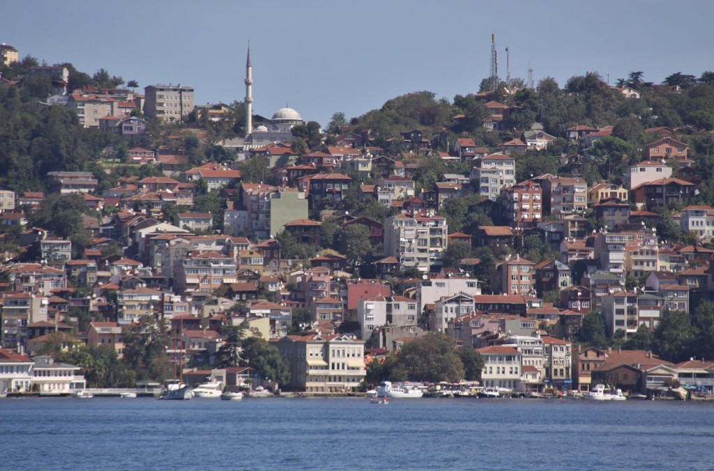 On Our Journey Back Down the Bosphorus the Shores are Lined with Houses and Apartment Blocks