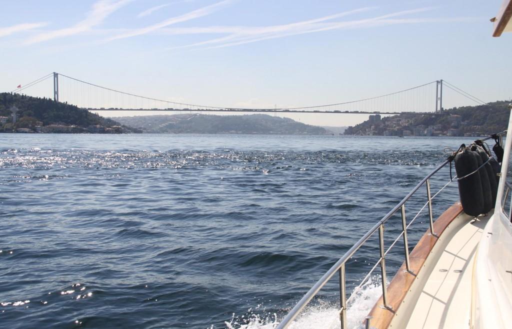 The Fatih Sultan Mehmet Bridge Comes into View
