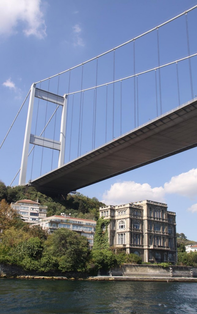 The Suspension Bridge across the Bosphorus Spans over 1.5km