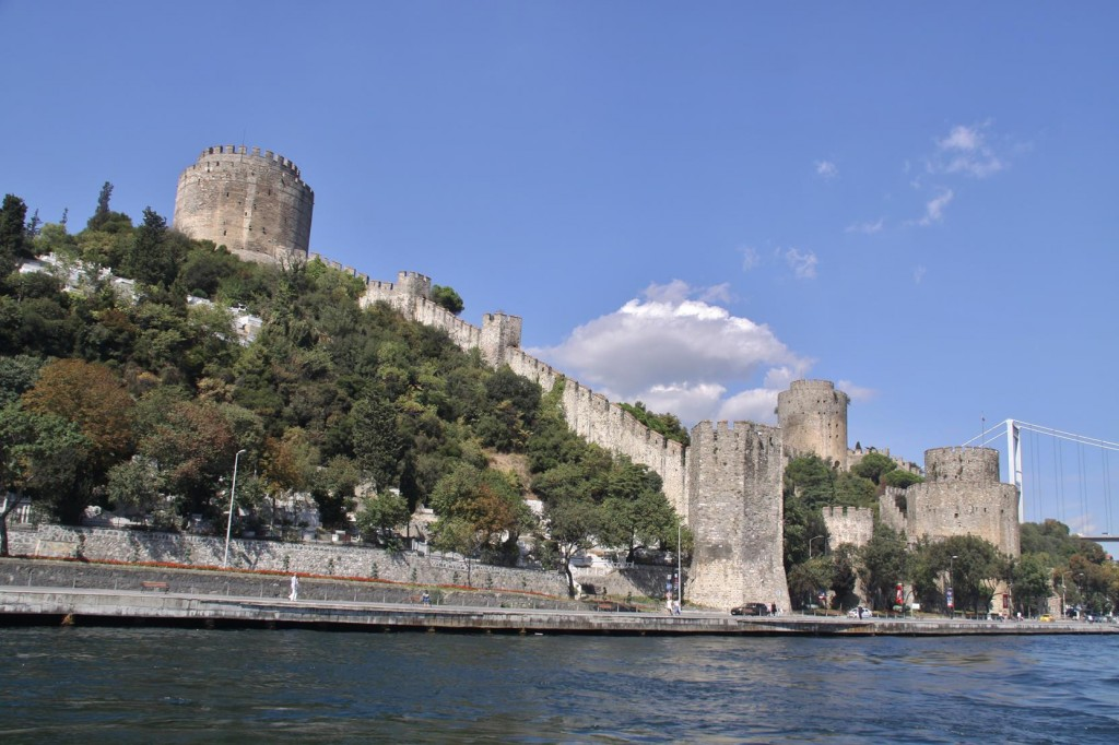 The Fortress/Castle was Built in the mid 1400's in the Narrowest Point of the Strait