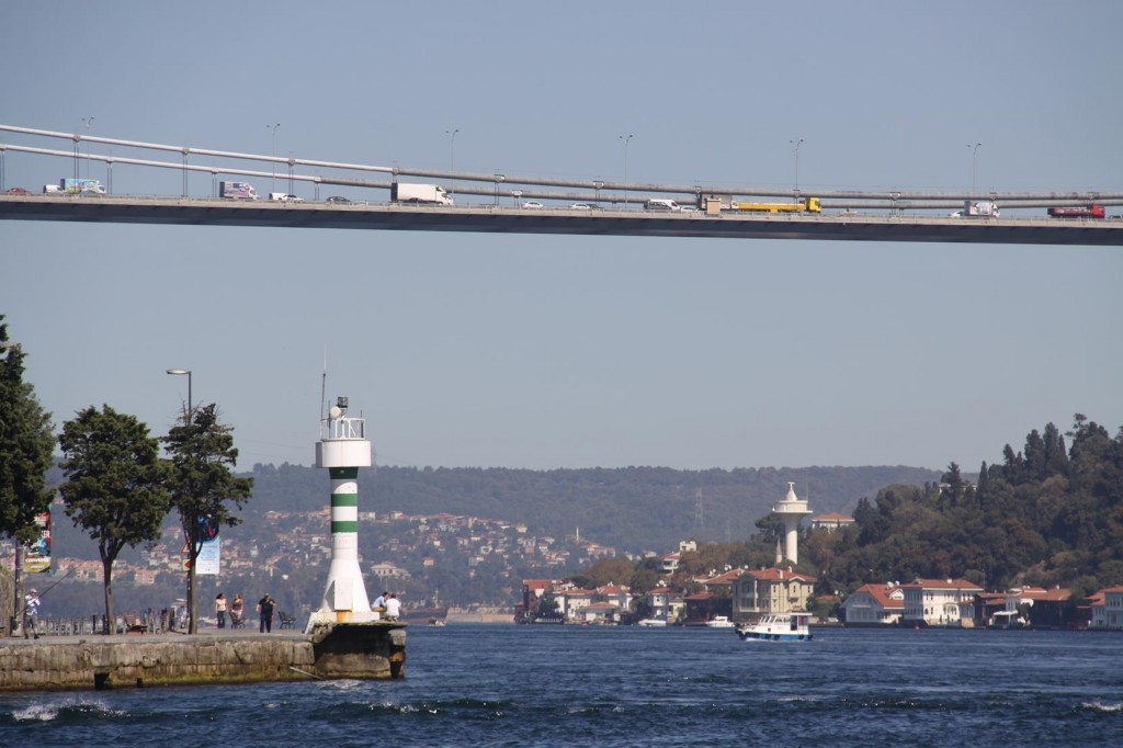 The Busy Fatih Bridge Connects the European and Asian Sides of  Northern Istanbul