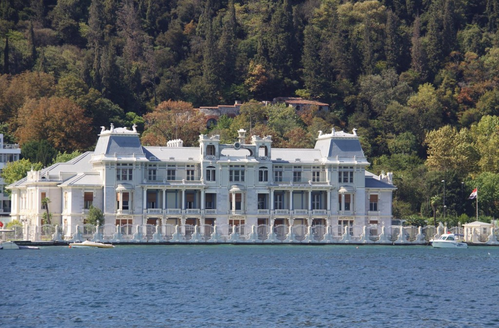 Large Luxurious Stately Homes Line the Shores of the Bosphorus