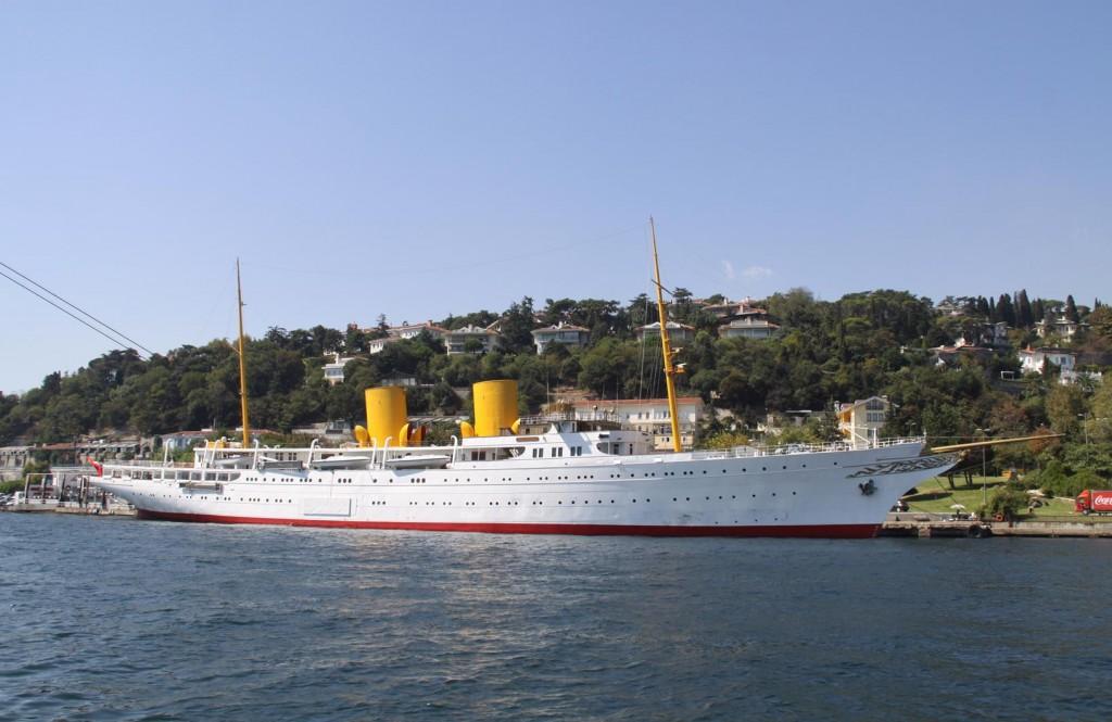 """""""Attaturk""""s Yacht,  the """"Savarona"""" is Still Moored by the 1st Bosphorus Bridge"""