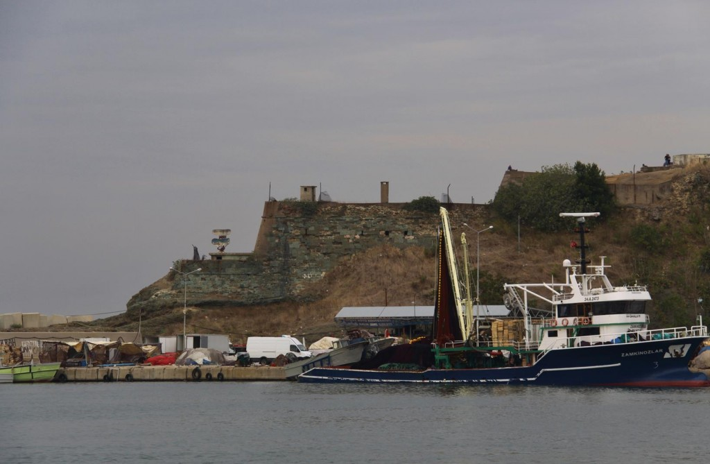 The Ancient Remains of an Old Castle in the Port