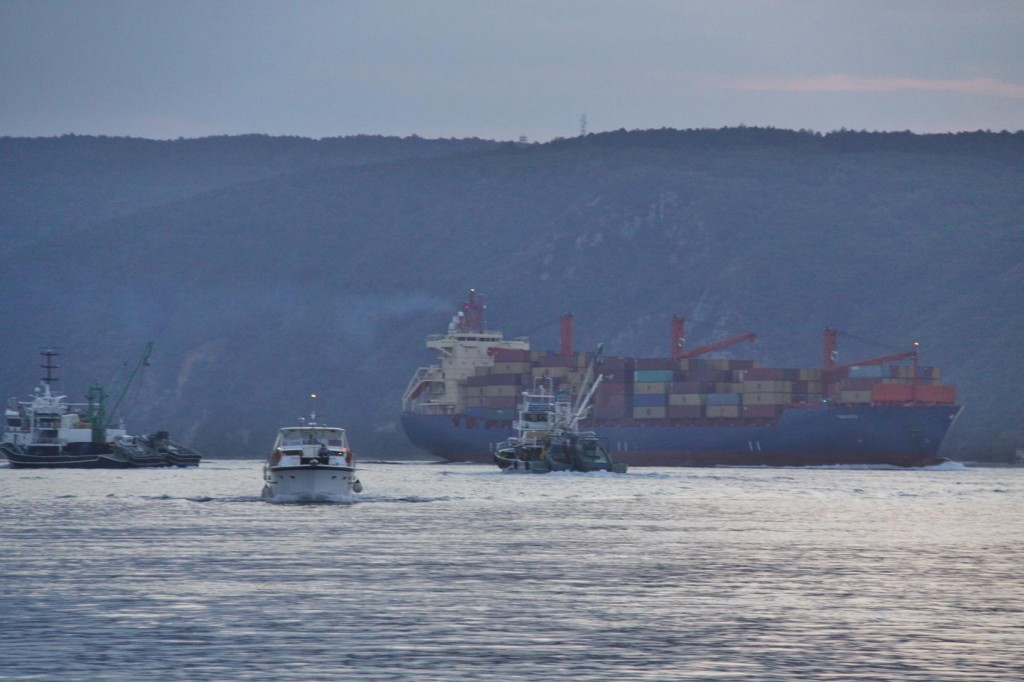 Large Ships Continue on their Journey to the Black Sea