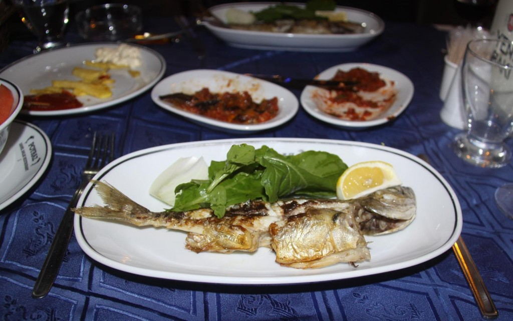 The Blue Fish Fresh from the Black Sea was Delicious