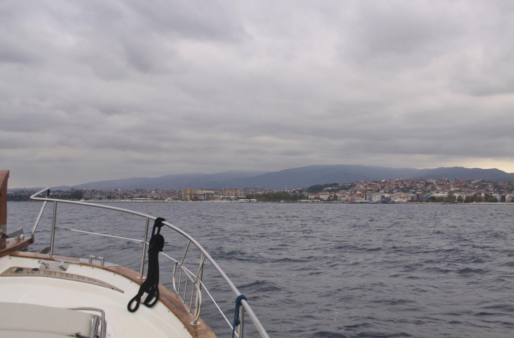 Motoring South Across the Marmara Sea we Approach Yalova Where we Intend Leaving the Tangaroa over he European Winter