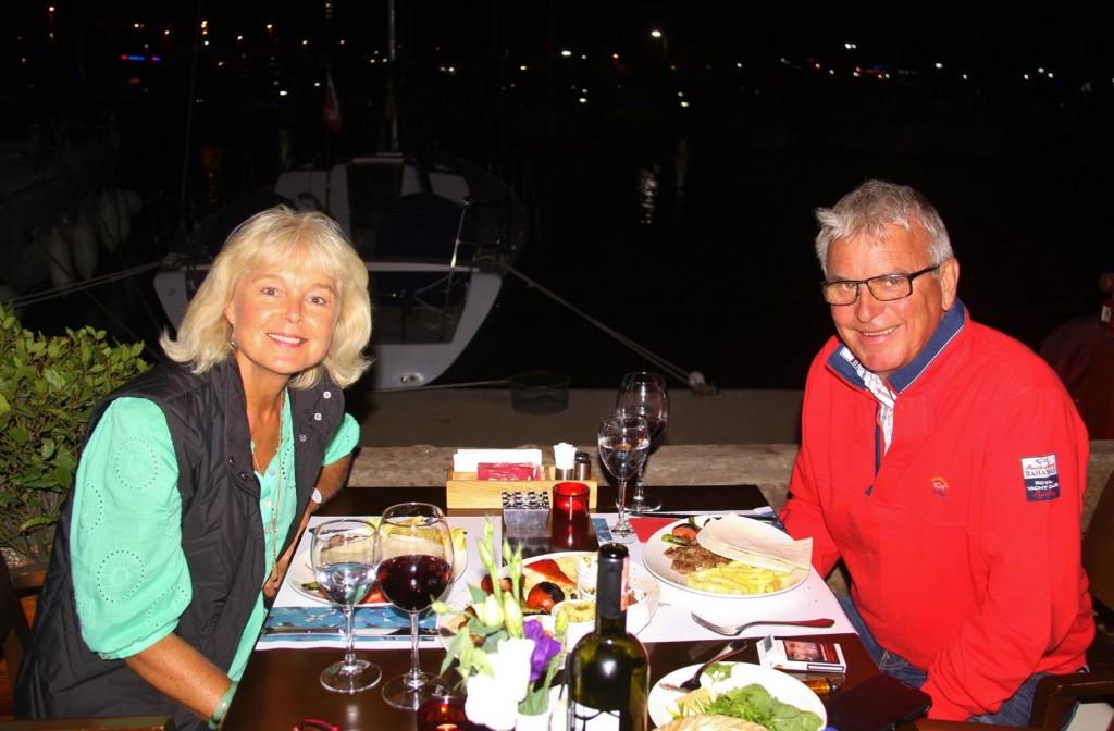 We had a Nice Table Overlooking the Marina