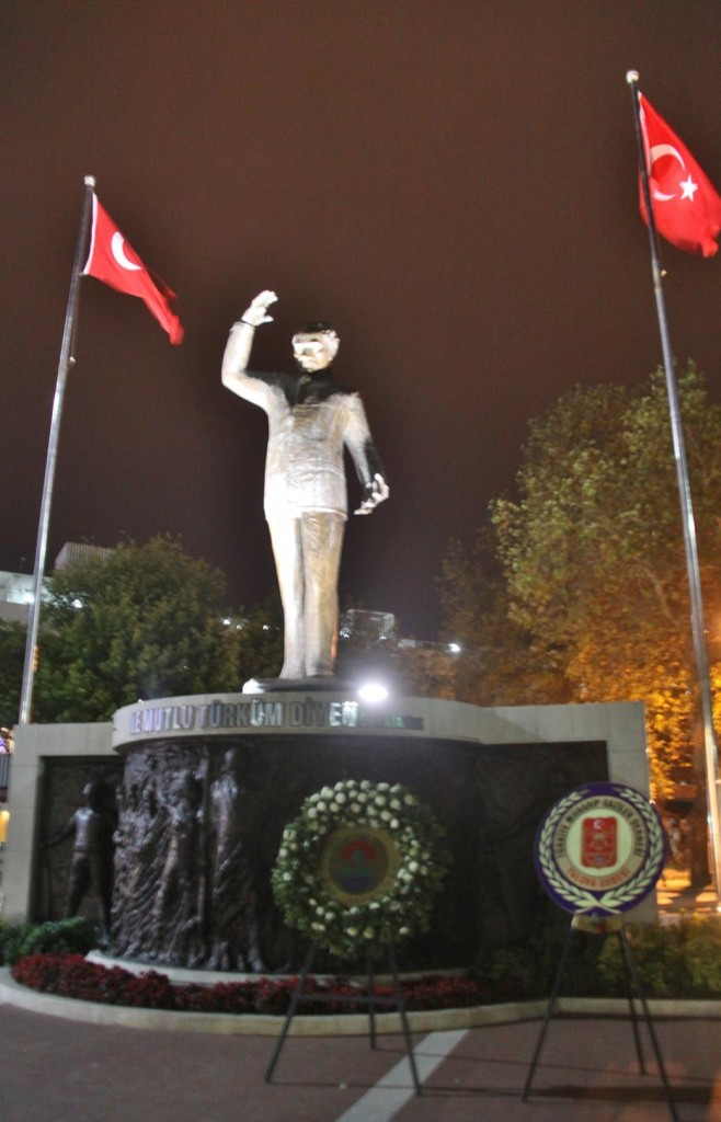 Attaturk the Famous Past Leader of Turkey is Remembered in Every Square and on Every Wall in the Country