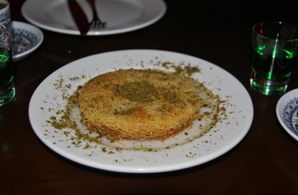 A Typical Turkish  Desert with lots of Honey was Given to us to Share