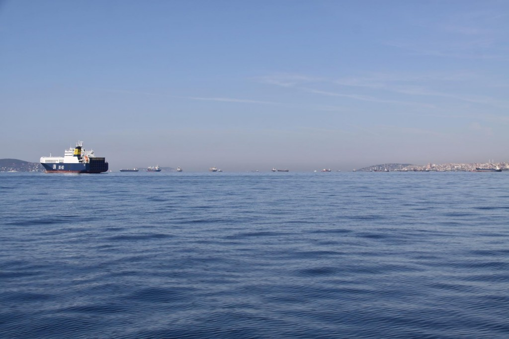 Hundreds of Ships at Anchor in the Marmara Sea by Istanbul
