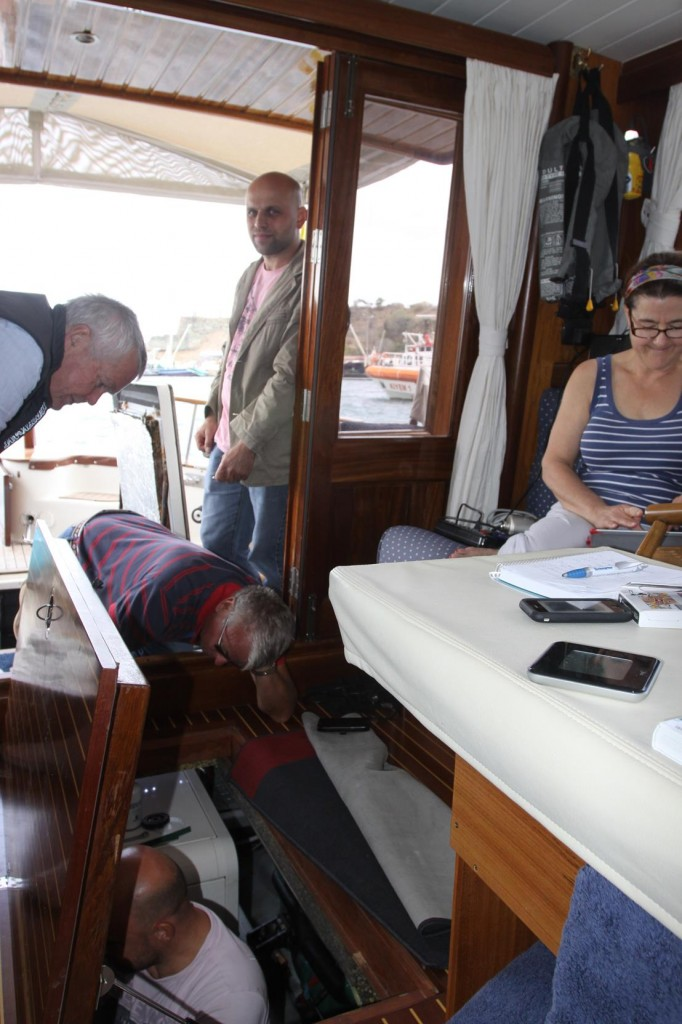 Electricians Arrive from Yalova to Check the Electrics on the Starboard Motor