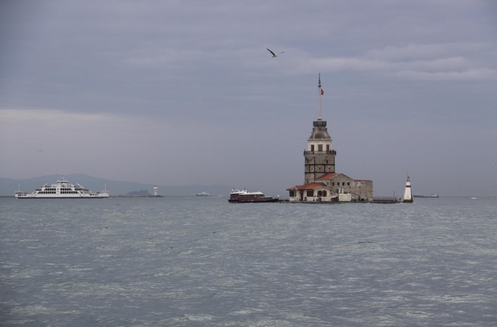 We Pass the Maiden's Tower Situated off Uskudar on the Asian Shore Near the Entrance to the Bosphorus