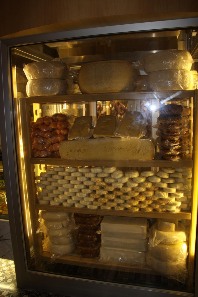 The Cheese Cabinet has some Impressive Cheeses on Display