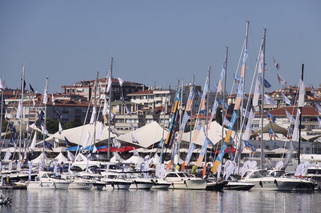 Boats of all Sizes are on Display at the Boat Show