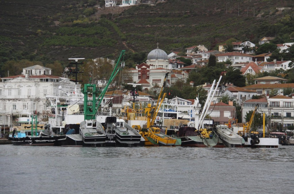 The Fishing Fleet on Adalar Island in the Princes Islands have Returned for the Day