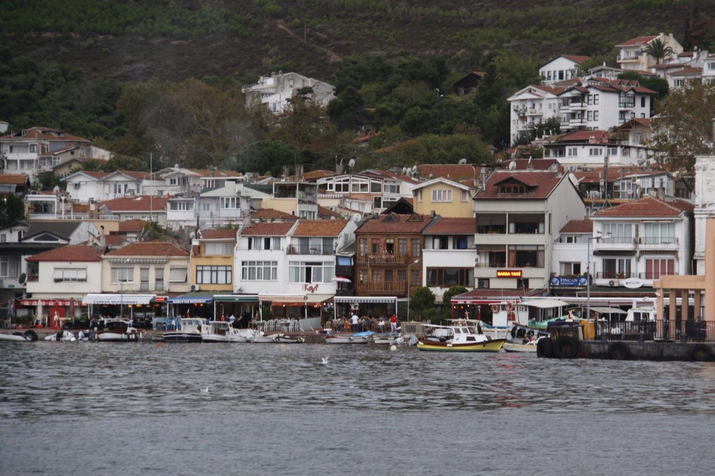 Welcoming Eateries Line the Shore of the Village on the Eastern side of Adalar Island