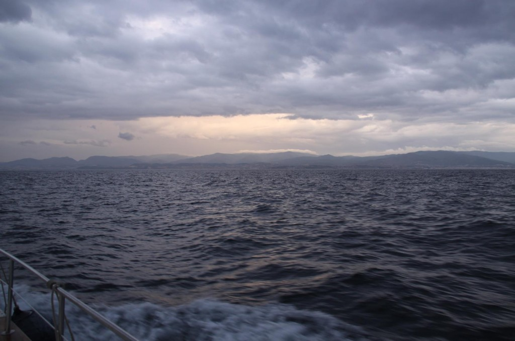 The Storm that was Forecasted for Late in the Afternoon is Following us Across the Marmara Sea
