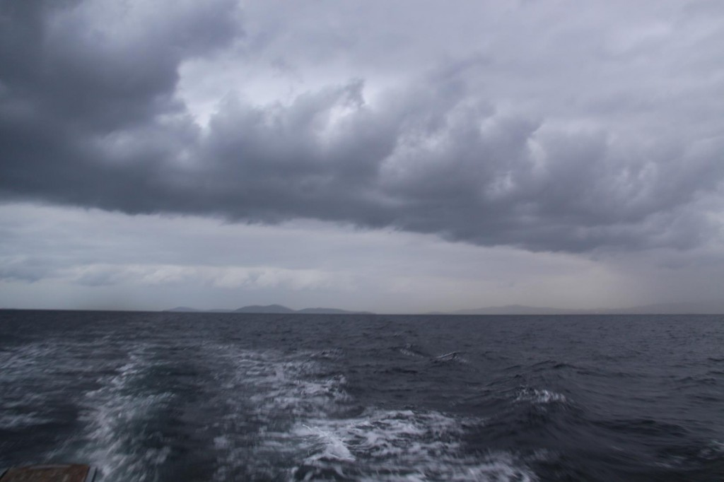 Heavy Clouds Appear as we get Closer to Yalova