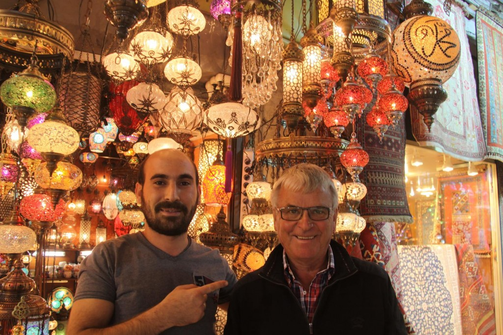Visiting a Light Shop in the Bazaar we Meet Harun who Offered  to take is to  see some Amazing Light Fittings