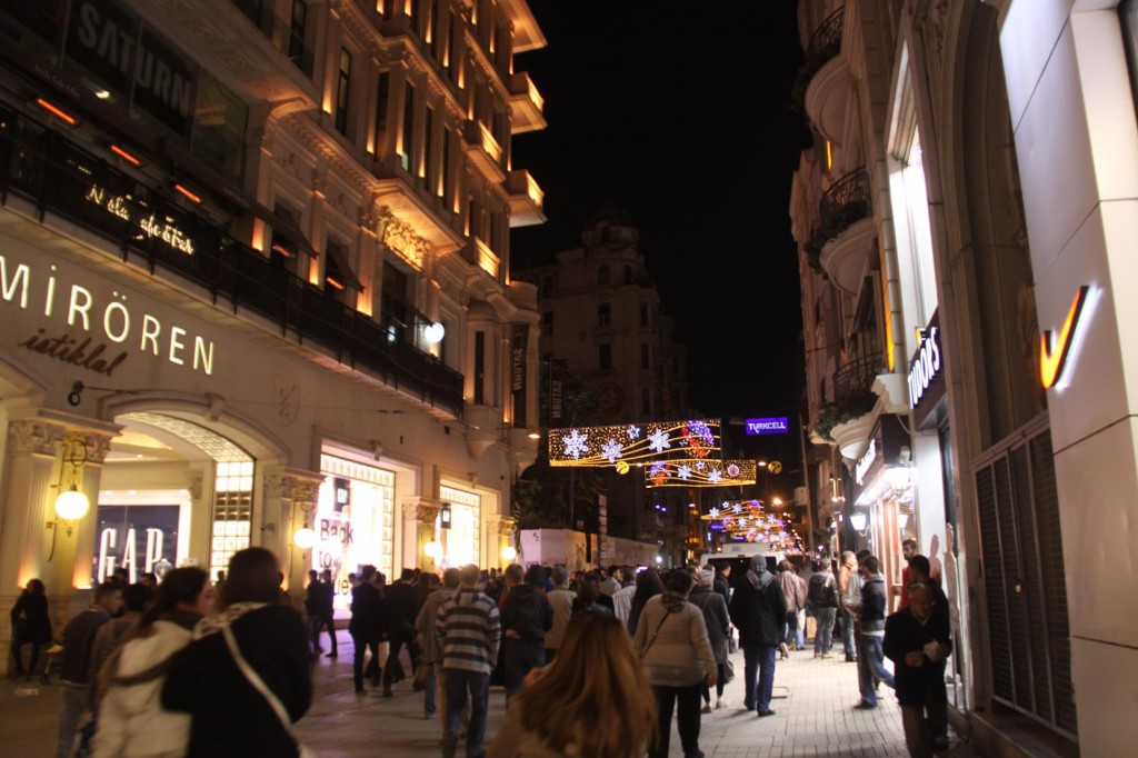 The large Crowds had disappeared from the Famous Istiklal Street