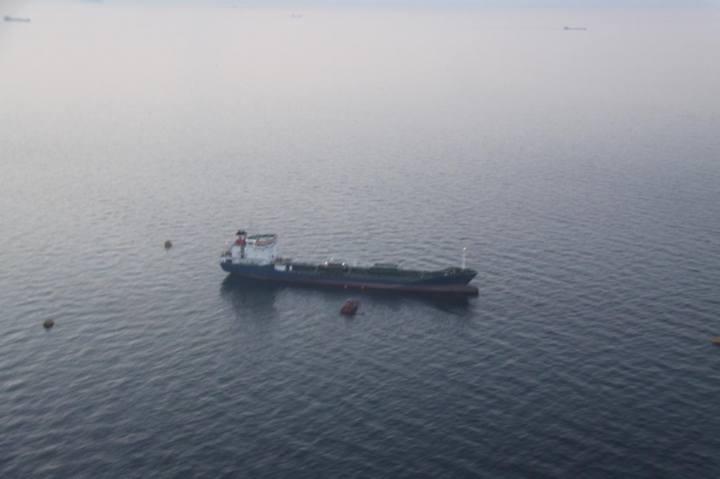 Many Freighters were Moored in the Marmara Sea by Istanbul as our Flight Landed Early Morning