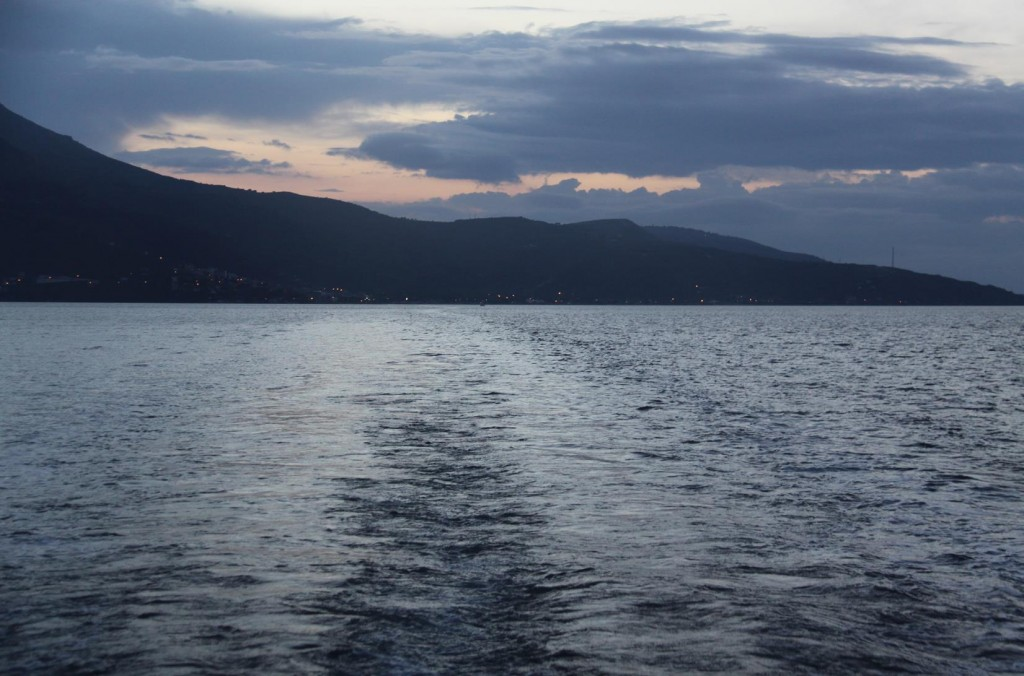 This Morning we were Under Way Shortly After 5am for our Long Journey to Canakkale in the Dardenelles