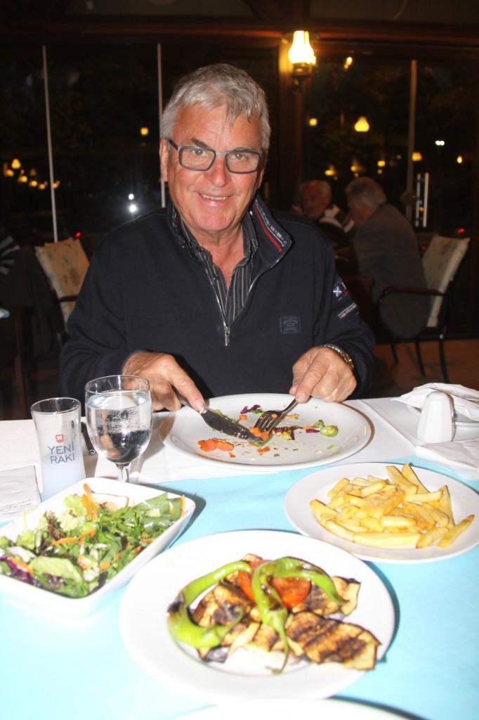 Our Last Dinner at the Sandal Restaurant