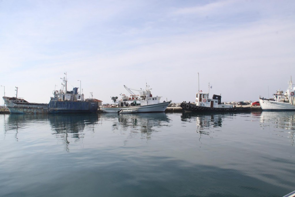 A Fleet of Fishing Vessels Lie Idle in the Port