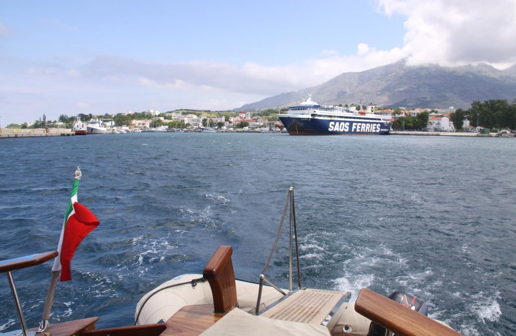 Although there was still Quite a Strong Wind Blowing we made a Decision to Leave the Port and Motor to Thasos
