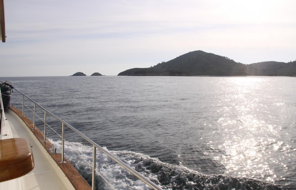 Today we Follow the Coast of the Most Northern Finger of the Halkidiki Peninsular