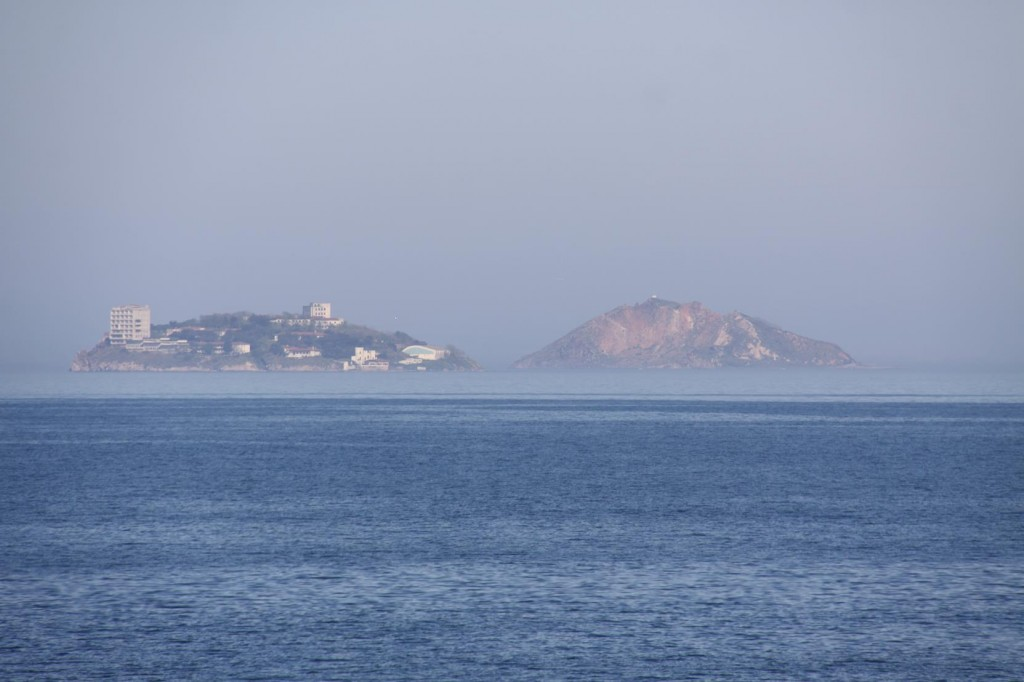 A Sea Mist Surrounds the Princes Islands near Istanbul in the Marmara Sea