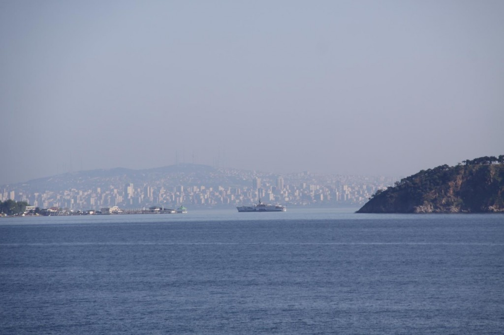 Looking Back Through the Princes Islands to Pendik on the Southern Asian side of Istanbul