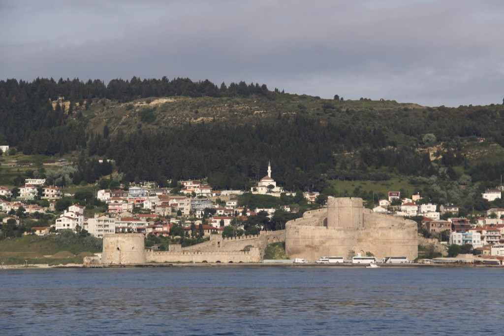 The Kilitbahir Fortress on the Western Shores of the Dardanelles Opposite Canakkle